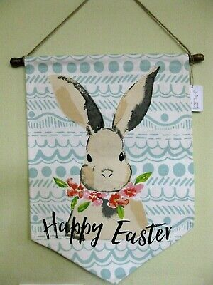 HIP HOP EASTER Bunny Wall Sign Banner Happy Easter Cloth Hanging 23