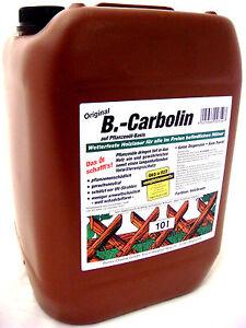 b carbolin 10l holzlasur holz lasur farbe holzfarbe braun kanister f r t r zaun. Black Bedroom Furniture Sets. Home Design Ideas
