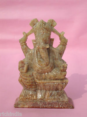 Hindu God Ganesha stone statue scluptur handicraft decor India art and craft