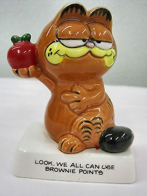 Garfield Cat Kitty Enesoo Apple Brownie Points  Ceramic Collectible Figurine