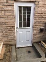 Side entrance door and window cutting