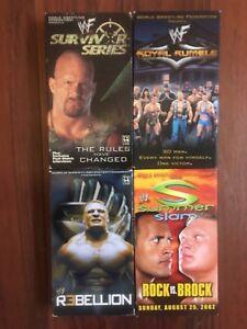 WWF WWE WCW VHS LOT