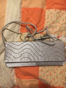 Silver clutch - perfect condition