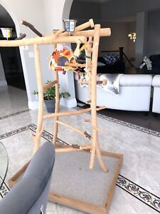 CRAFTED NATURAL APPLE WOOD GYM Obo