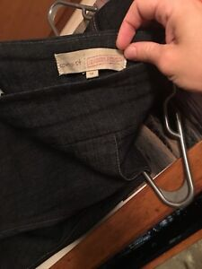 Woman's jean capris stretchy and pants