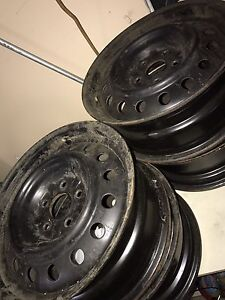 Rims for snow tires 16inch x 4 Kitchener / Waterloo Kitchener Area image 1