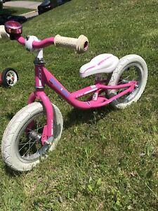 Girl's Pedal-less glider bike