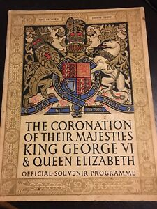 King George VI & Queen Elizabeth II Coronation souvenir program