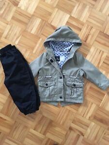Ensemble manteau/pantalon de printemps