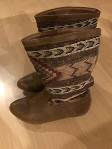 Womens Patterned Cowboy / Spring Boots
