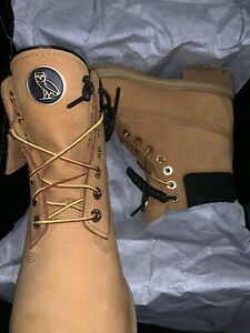 73f452bdf099 TIMBERLAND x OVO BOOTS WHEAT   BLACK SIZE 9 9.5 10 BRAND NEW DS