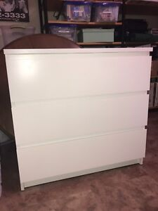 IKEA MALM Dresser (with glass top)