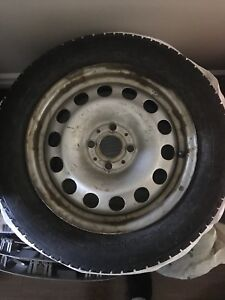 4x100 15x5.5 Mini Cooper Rims with winter tires