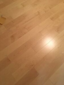 Maple engineered hardwood flooring with underlay by torley