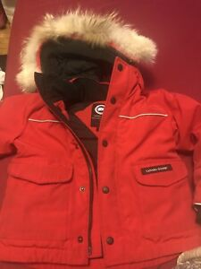 Red Children's Canada Goose Jacket size 2-3 years