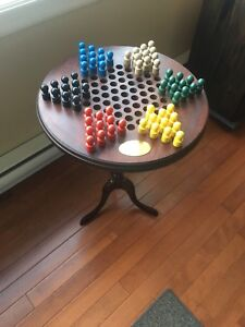 Wooden Chinese checkers game table