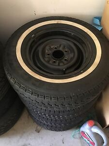Chev steel rims with new whitewall tyres Tamborine Ipswich South Preview