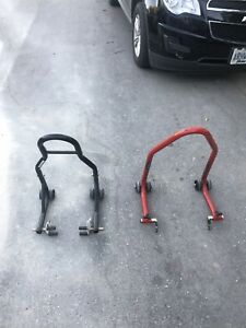 Front and Rear Motorcycle Stands