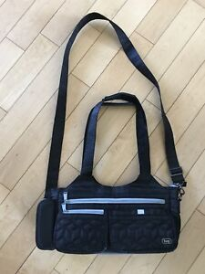 Lug bag small black crossbody