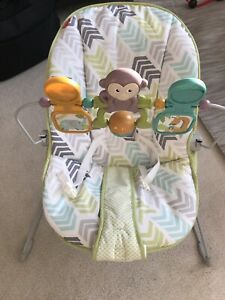 Fisher-Price Baby's Bouncer, Green/Blue/Grey ( Like new)