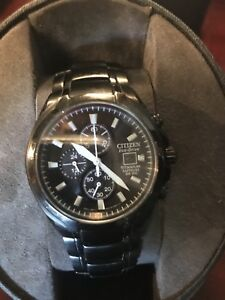 Black titanium citizen watch