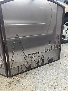 Metal fire place cover