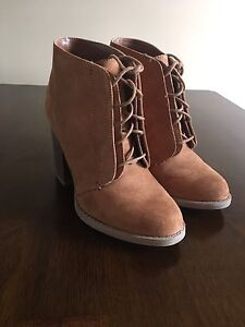 Beige Spring Boots Size 6
