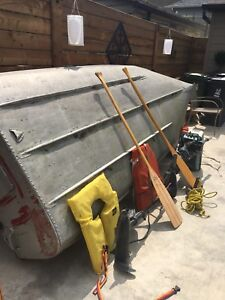 14 ft Aluminum boat with accessories