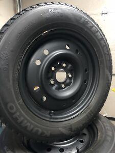 4 pneus d'hiver avec jantes 225 60 16 ( Honda Accord)