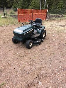 Lawn tractor and blower