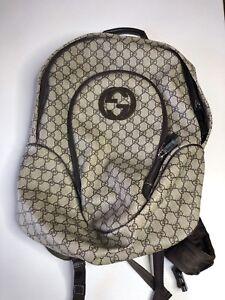 6b514dea7345 Gucci supreme GG interlocking Backpack 100% authentic RARE ...