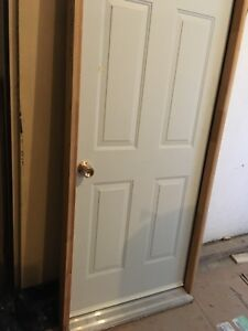"Steel insulated exterior 32""x80"" door and frame"