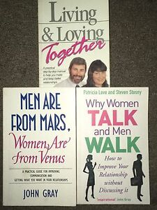 Books- Living & Loving Together, Men are from Mars, Why Women Talk.. Shepparton Shepparton City Preview