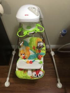 Swing and high chair