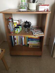 Tea Trolley/Microwave Shelf on rollers