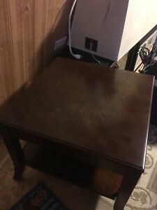 Solid mahogany hardwood end table