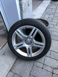 1 x OEM Audi VW mag rim with 235 45 17 Goodyear Eagle LS2 tire.