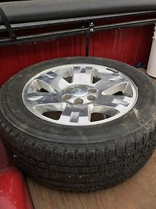 """20"""" GM wheels and 275/55/20 tires"""