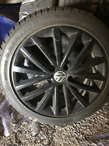 "17"" Vw Rims and tire"