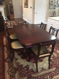 Antique Solid Wood Dining Set