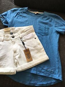 2 Girls size 10 Silver outfits
