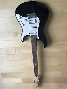 Yamaha electric guitar and case