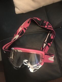 Pink motocross goggles
