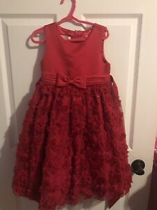 Girls Christmas Holiday Dress sz6X