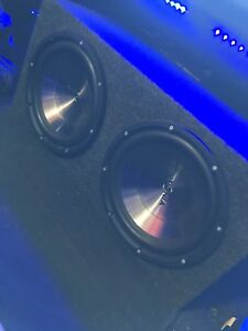 """^** TWO 12"""" SUBS IN BOX ONLY 160!! 900 WATTS EACH"""