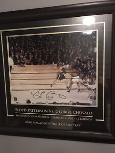 George chuvalo autographed framed 16x20 frame is much larger