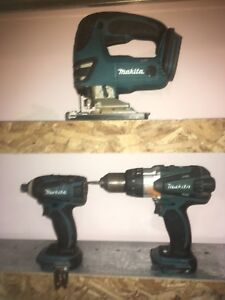 Makita 3 outil a vendre + chargeur