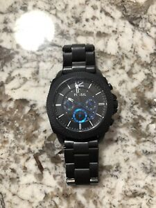 Men's black fossil watch (used)
