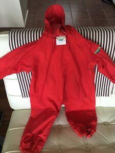 Red 2T Splashy Suit (rain suit)