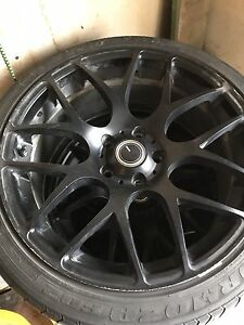 """18"""" enkei rims with tires bolt pattern 5x114.3"""